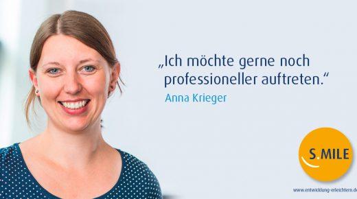 s.mile erleichtert Entwicklung: Anna Krieger