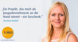 s.mile erleichtert Entwicklung: Martina Knittel
