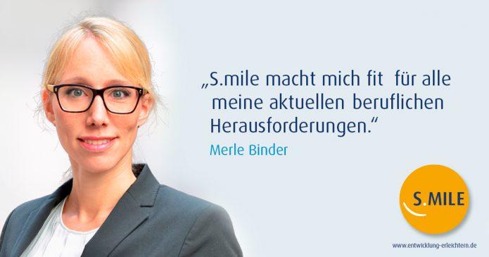 Haufe Akademie Projekt s.mile erleichtert Entwicklung: Merle Binder