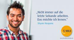 s.mile erleichtert Entwicklung: Shyam Neupane