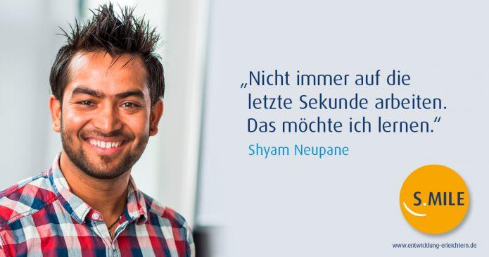Haufe Akademie Projekt s.mile erleichtert Entwicklung: Shyam Neupane