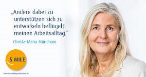 s.mile erleichtert Entwicklung: Christa-Marie Münchow, s.mile Coach